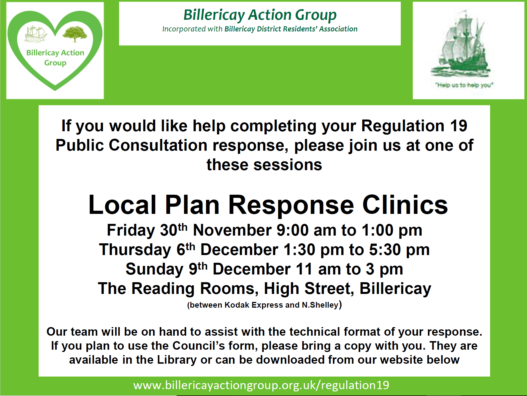 Local plan response clinics