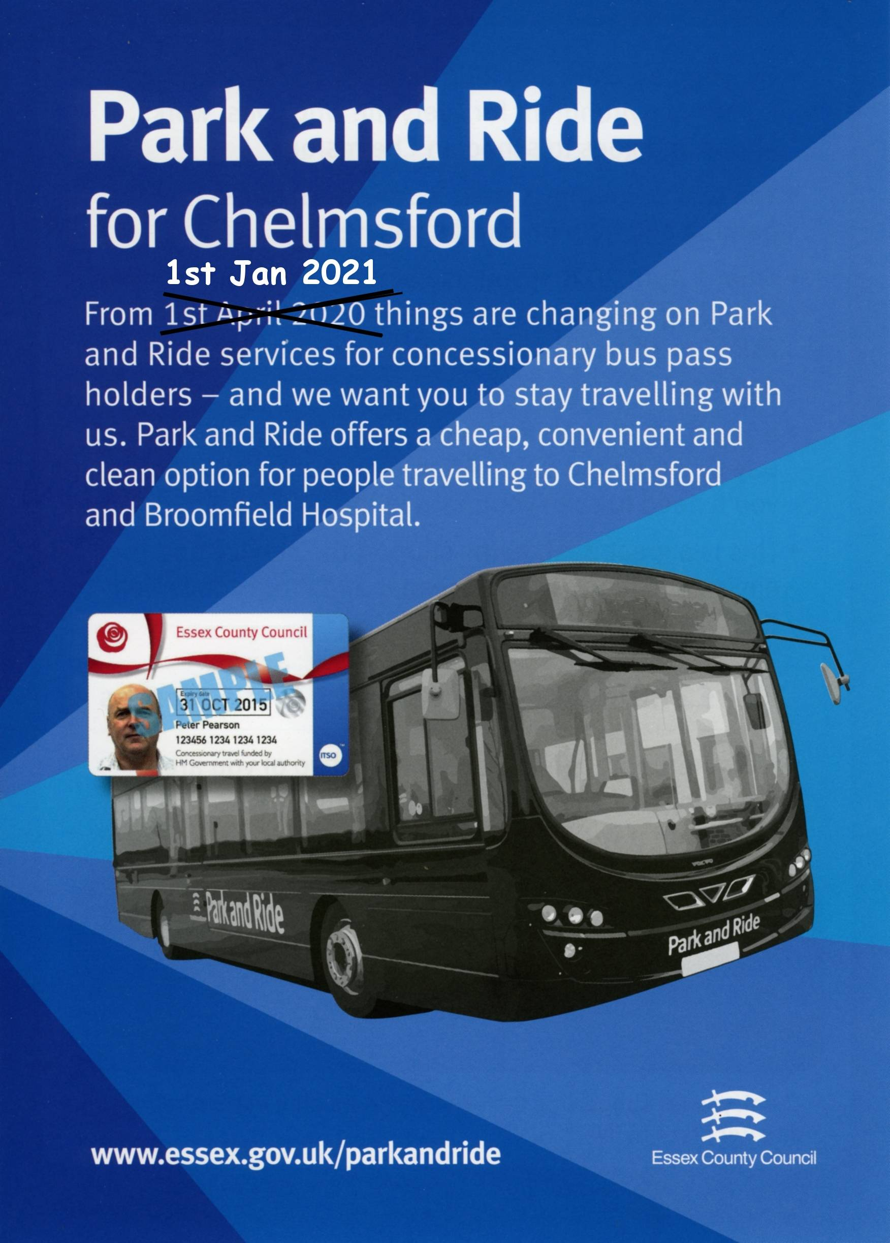 Nov 2020 - Update to the Changes to Chelmsford Park and Ride for concessions