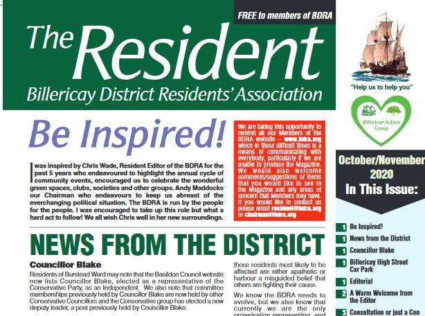 October/November 2020 edition of The Resident