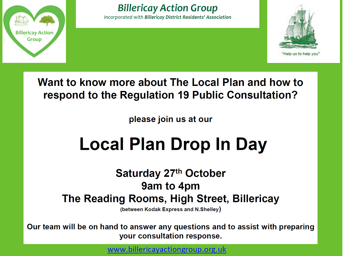 Local plan drop-in day 27th October
